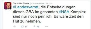 Christian Flisek fordert auf Twitter den Rücktritt des GBA Range