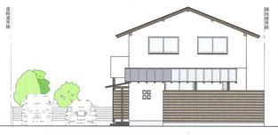 豊橋南栄の家・立面図