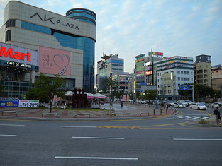Downtown of Wonju City