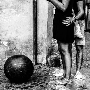 Rome, street photography, black and white, noir et blanc, CarCam, art