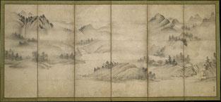 相阿弥 山水図 メトロポリタン美術館