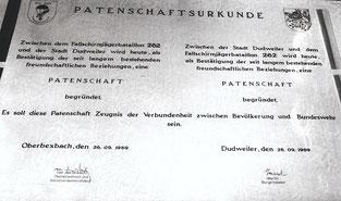 dudweiler, patenschaft, fallschirmjaegerbatallon, 262