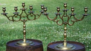 Brass Candelabras