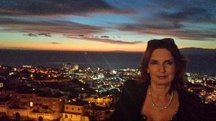 Ausblick San Eugenio Alto nach Gomera bei Nacht