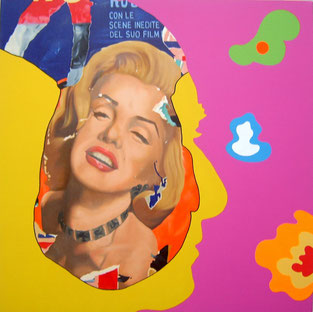 Marilyn (Rotella) Feedback serie / Mixed media / 31.5 x 31.5 in / 2012