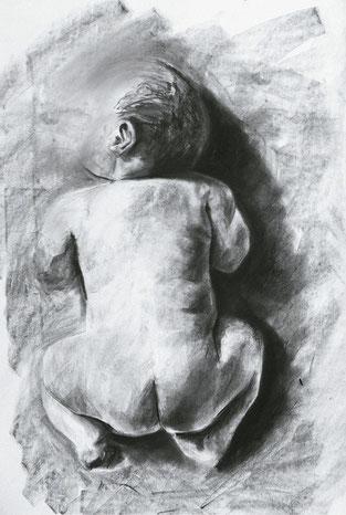Baby 2 / Charcoal on paper / 11 x 17 inches