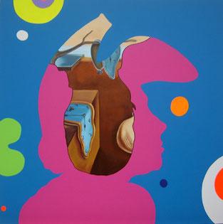 Persistencia de la memoria (Dali) Feedback serie / Mixed media / 39.3 x 39.3 in / 2012