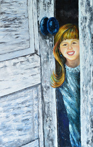 Childhood / 32.30 x 51.57 inches / Oil on canvas