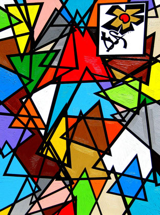 How many Triangles / 40 x 30 inches.