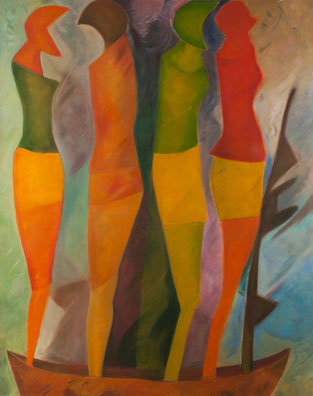 AcandÍ VII / Oil on canvas / 74.8 x 59 in / 2010