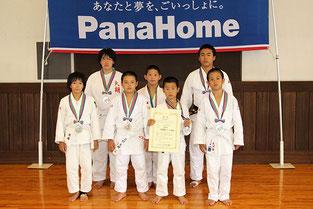 準優勝の大胡柔道スポーツ少年団