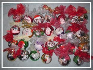 Palle di Natale Furetto dipinto