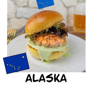 Alaska Lachsburger
