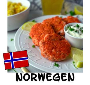 Norwegische Fiskekaker - Norwegische Fischküchlein