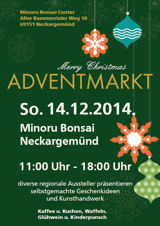 Adventmarkt im Minoru Bonsai Center