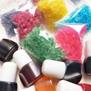 手作り宝石石鹸教室カラージェル石鹸の色付け