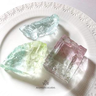 クリスタル石鹸透明石鹸宝石石鹸アロマティカ石鹸教室