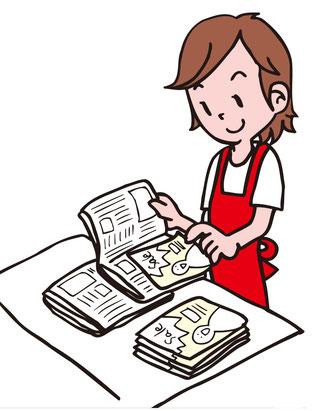 チラシの新聞折り込み配布