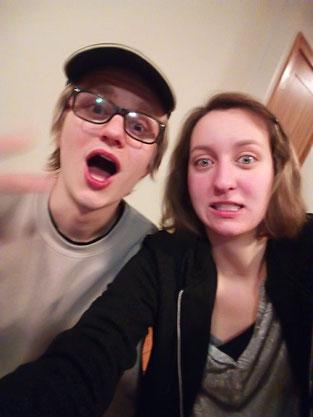 Julian und ich beim herumalbern :D