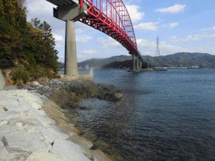 笠戸大橋下 笠戸島側・尾泊海岸 はこちらからどうぞ
