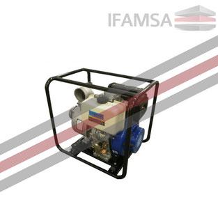 Bomba Agua 4x4 Diesel, marcha eléctrica y batería
