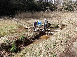 3月3日堰の補修