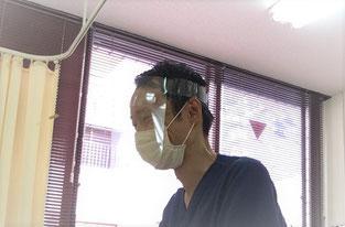 【烏丸御池】畠鍼灸院整骨院、感染予防対策実施中、フェイスガード、マスクの着用