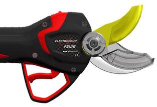 Akku-Schere Infaco Electrocoup F3015 Überlappung der Schneidmesser
