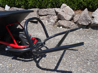 Bravo Motorkarrette Schubkarre Wiesel Power mit Kunststoffwanne 120 Liter und Transportgabel
