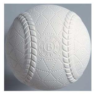 ▲軟式球(中体連が使用するボール)