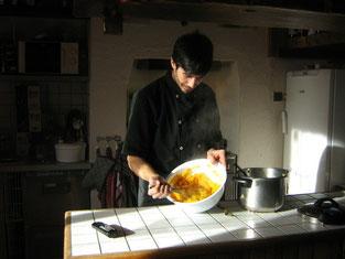 cuisine pour les clients du soir