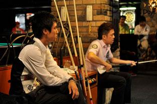 ファイナルの2人。左:土方隼斗、右:羅立文
