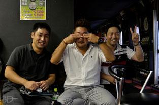 写真2 左から、中野・石渡・丸岡の各選手