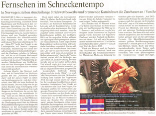 Schneckentempo, FAZ 04.03.2014