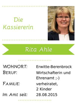 Steckbrief von Rita Ahle, der Kassiererin der LAG 5verBund