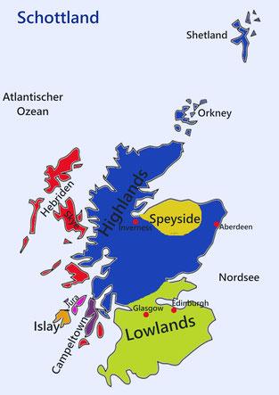 Regionen Schottlands