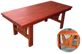 マホガニー カービング コアスタイル コーヒーテーブル(S)