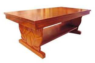 マホガニーロイヤルカービング コーヒーテーブル (B)