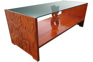 アカシアウッド ロイヤルグラストップ コーヒーテーブル