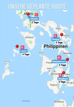 Philippinen Route für 18 Tage