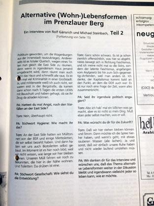 Wagenburg Prenzlberger Ansichten 1996