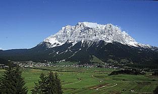 Ausblick auf die Zugspitze