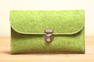 Geldbeutel aus Wollfilz 100% Wolle, in Deutschland hergestellt, Taschen und Geldbeutel ohne Plastik, biologisch abbaubar