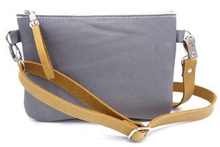 Kleine Tasche aus Bioleder IVN zertifiziertem Leder (Naturleder), in Deutschland hergestellt