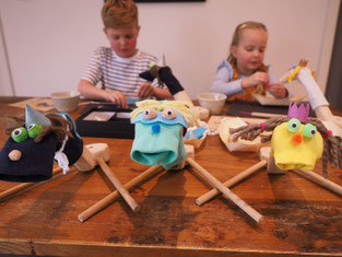 Sock puppet craft at home