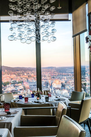 Restaurant CLOUDS Kitchen Zurich prime tower