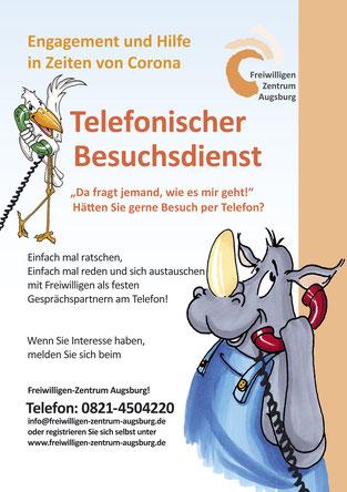 Freiwilligen-Zentrum Augsburg - Corona - Telefonischer Besuchsdienst