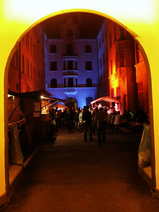 Konzerte im Bürgerhof 2014 - Foto: Robert Hösle Illumination: Wolfgang F. Lightmaster - Freiwilligen-Zentrum Augsburg