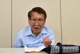 語り部として歴史を伝承する神谷文義さん(90歳)