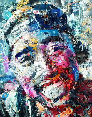 Tupac Shakur / Art Installation, toy recycled / @RafaelEspitia